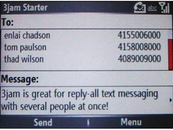 Smartphone 3jam Reply-All Text Messaging