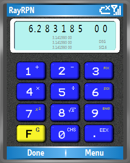 Smartphone RayRPN calculator