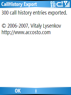 Smartphone Call History Export