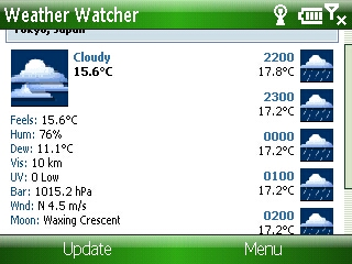 Smartphone Weather Watcher Mobile v1.0.6