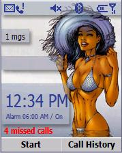 Smartphone SPAlarm Comic Babes Homescreen freeware